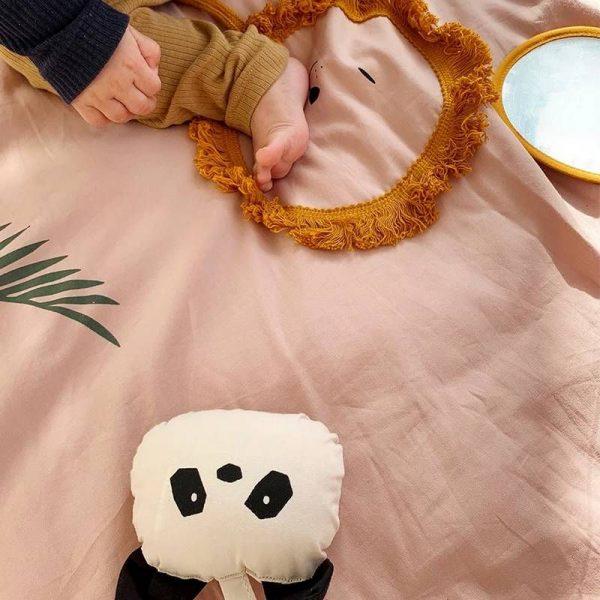 tapis d eveil en coton bio rose glenn liewood