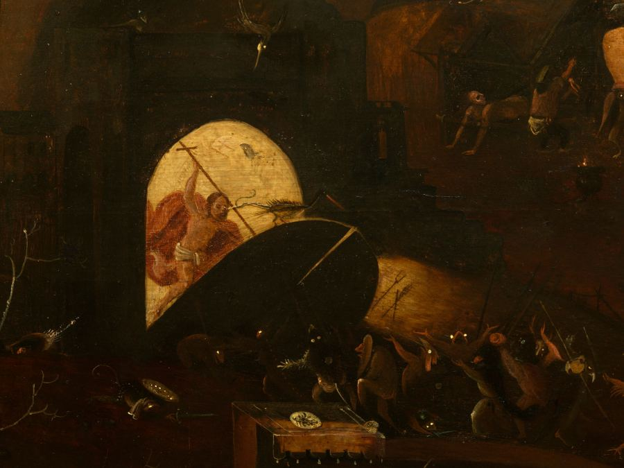 Christ Breaking Down the Gates of Hell by an imitator of Hieronymus Bosch