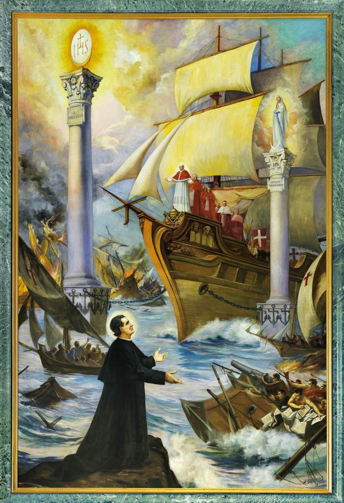 St. John Bosco's Prophetic Vision of the Two Columns