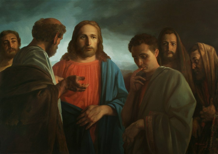 Christ and the Young Man by A. N. Mironov