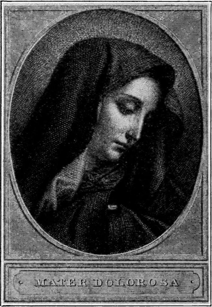 Vintage image of Our Lady of Sorrows, Mater Dolorosa
