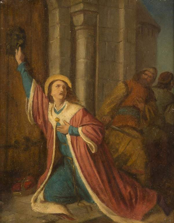 The murder of St. Wenceslaus