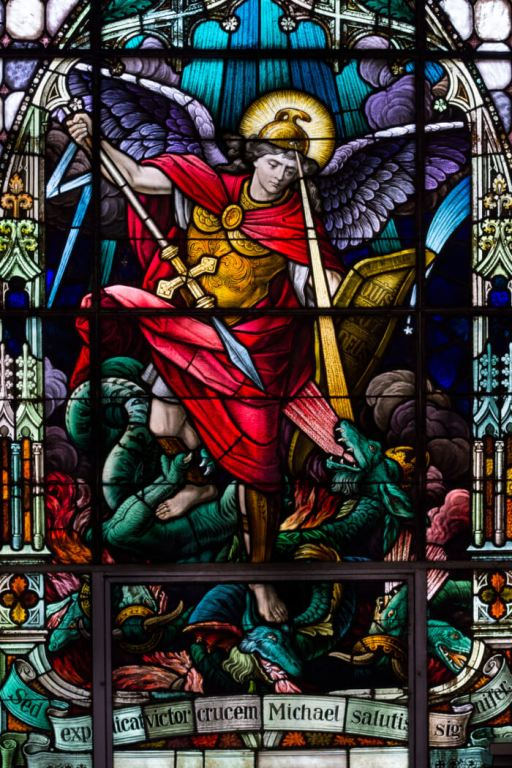 St. Michael the Archangel Stained Glass Window