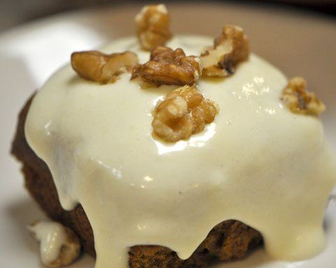 Pumpkin Bars with Cream Cheese Icing and Walnuts