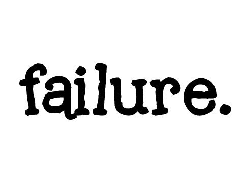 failure typed out