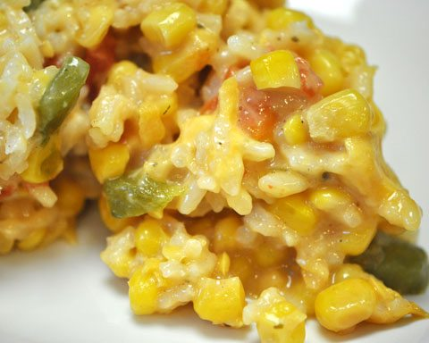 Sweet Corn and Rice Casserole