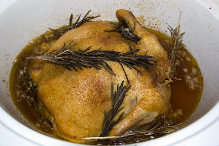 Homemade Chicken Stock in the Crock Pot