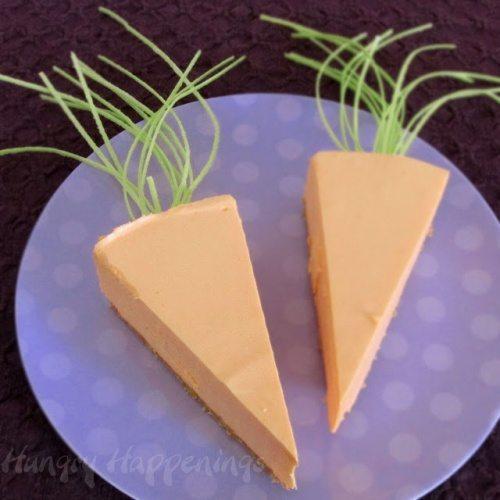 Cheesecake Carrots for Easter dinner, Easter dessert, cake, carrot shaped edible craft