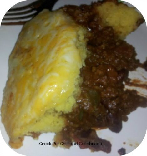 Crock Pot Chili and Corn Bread