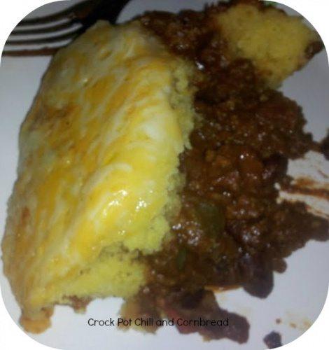 Crock Pot Chili and Corn Bread