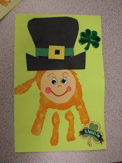 Leprechaun Hand Print Card