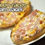 Open Faced Ham Bagels