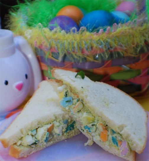 Easter Egg Salad Sandwich