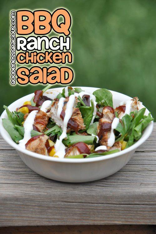 Barbecue Chicken Ranch Salad