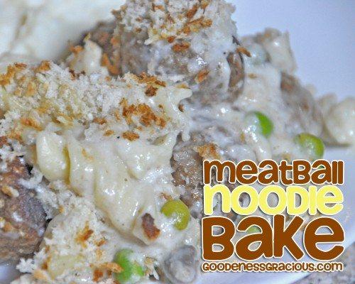 Meatball Noodle Bake