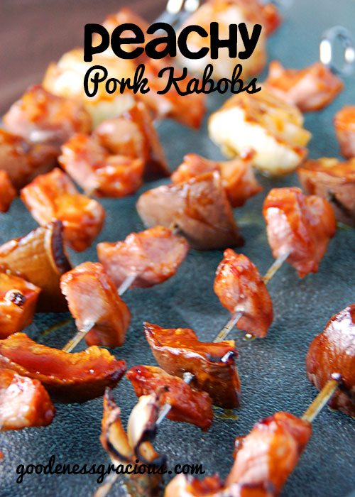 Peachy Pork Kabobs