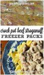 Freeze Ahead Crock Pot Beef Stroganoff