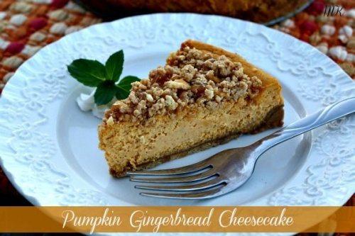 Pumpkin Gingerbread Cheesecake