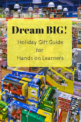 This holiday gift guide is curated for hands on learners. Find the perfect Christmas gift for busy kids they will be sure to love! Also don't forget to enter our giveaway for $150 gift card to Mastermind Toys. Exclusions apply. #sponsored