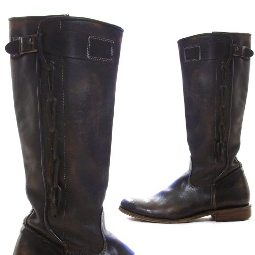 Bed Stu Knee High Brown Leather Boots Size 9