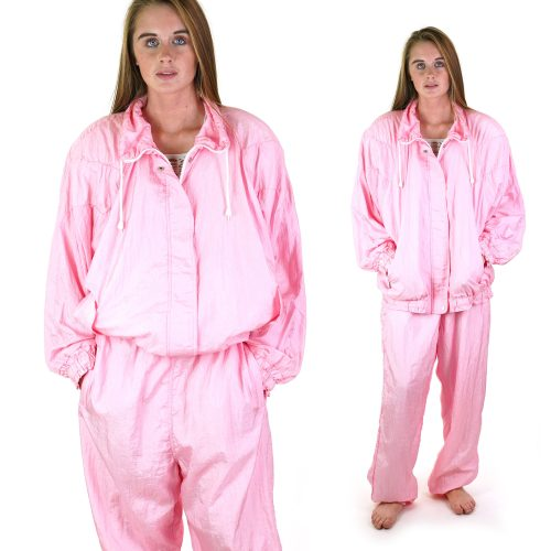Pink Track Suit with Matching Jacket and Pants