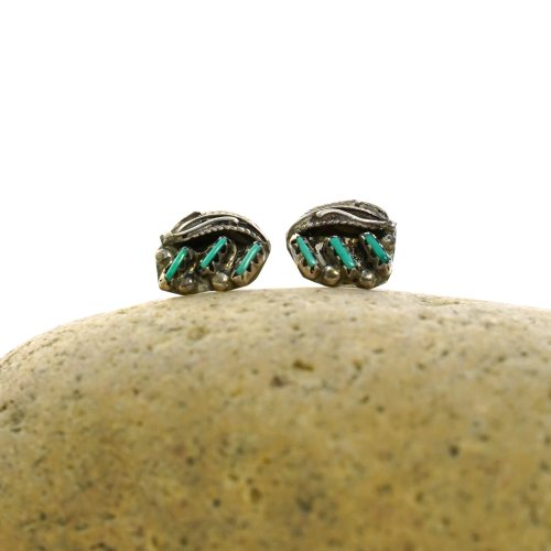 Sterling and Turquoise Stud Earrings