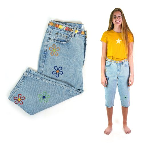 90s Embroidered Jeans 33 Waist