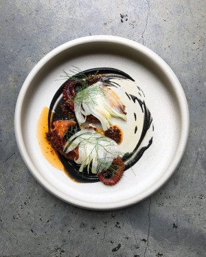 Grilled Tasmanian octopus, XO chilli, red vinegar, fennel and ink at Automata.
