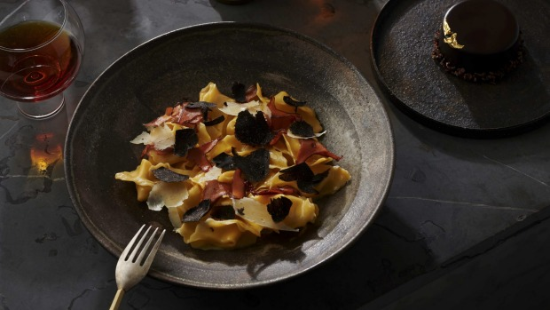 Cutler & Co's hand-rolled pasta with shaved black truffle.
