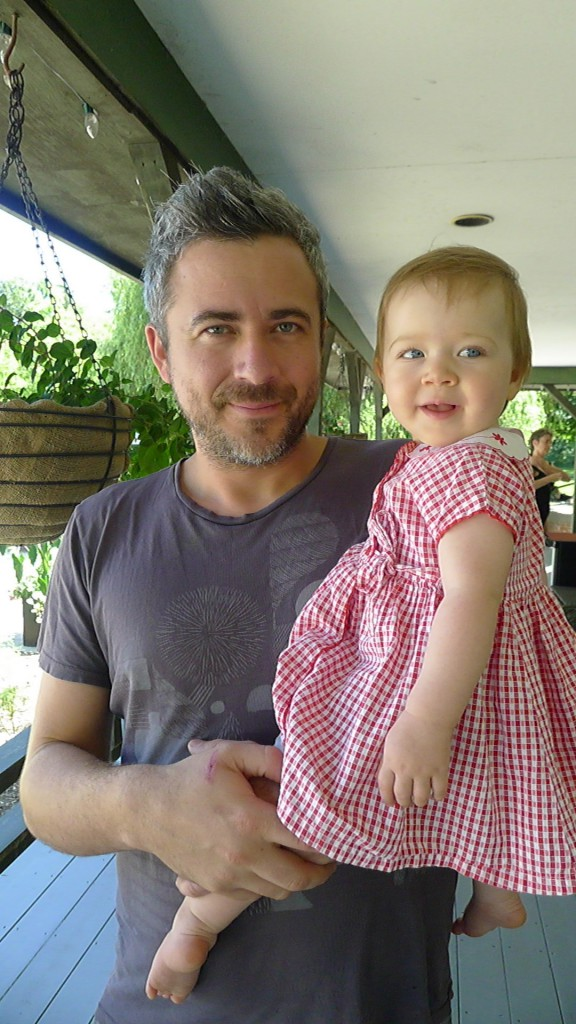 Pastaga's Martin Juneau and his daughter enjoy the poolside at Langdon Hall