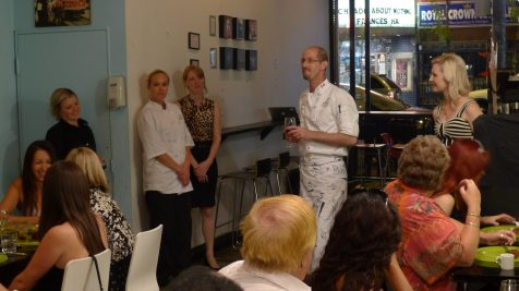Chef Liebman thanks his team for such a successful service