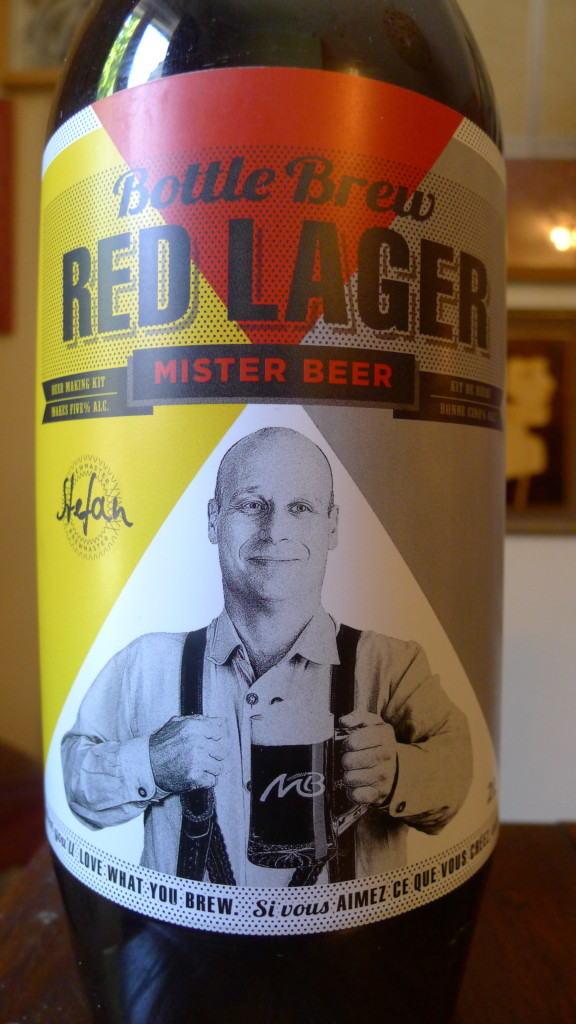 I'm not sure what Mister Beer is looking so happy about here... as his Red Lager leaves a lot to be desired.