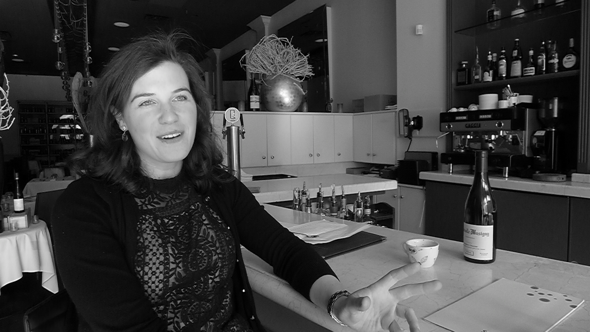 Splendido's Ellen Jakobsmeier at the bar.