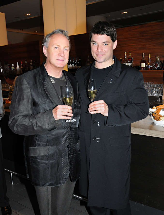 Restaurateur James Morris today, pictured with Richard Maloney at Toronto's Nota Bene where they we attending the annual Stratford Chefs School Gala Dinner.