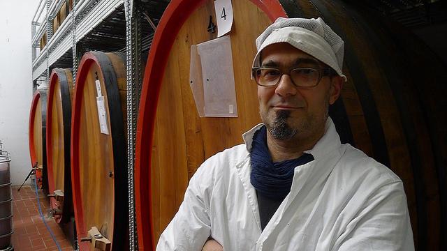 The man behind the Bottega Grappa, Andrea Minguzzi.
