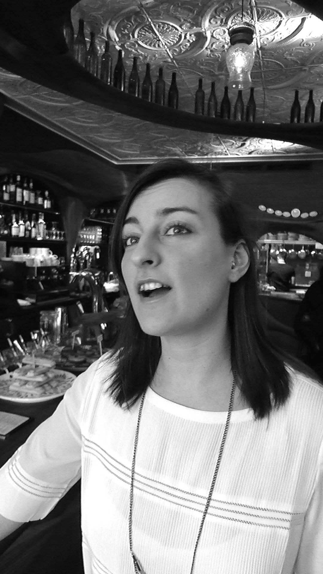 Sommelier Lexi Wolkowski, late afternoon at Bar Raval.