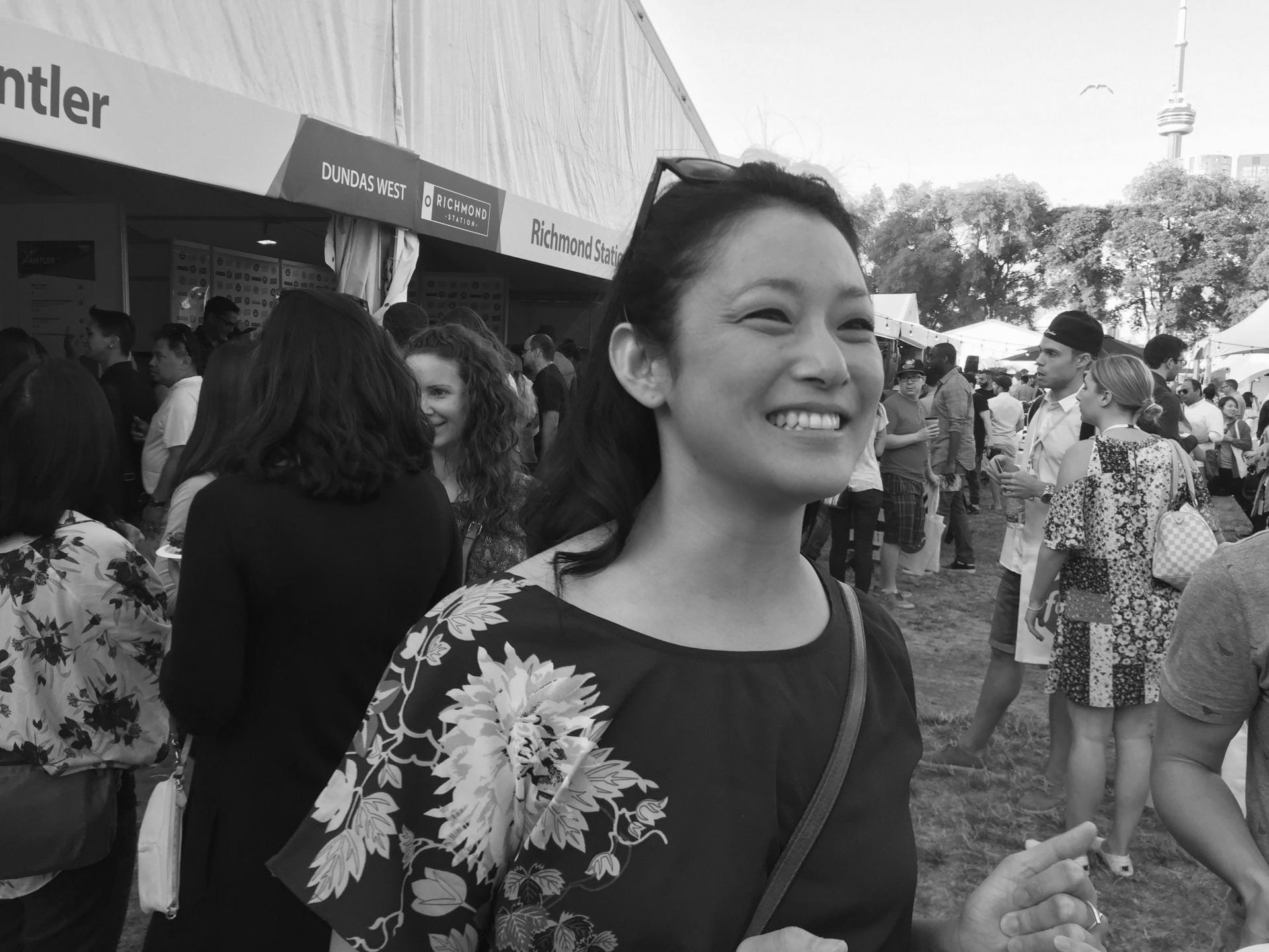 Sake Sommelier Mariko Tajiri at Taste Of Toronto 2016.