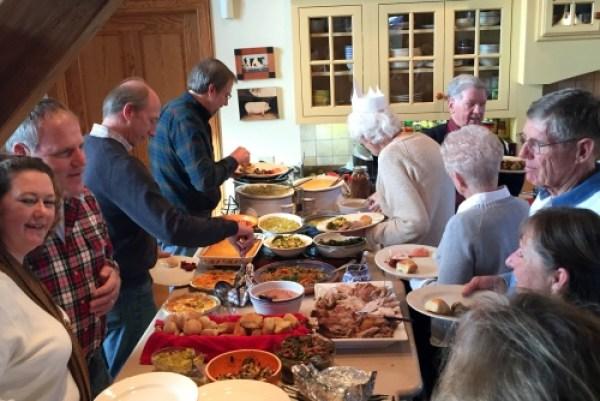 The Thanksgiving buffet