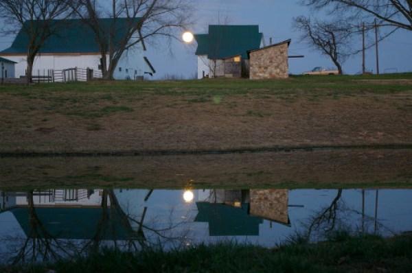 Barn and moonlight