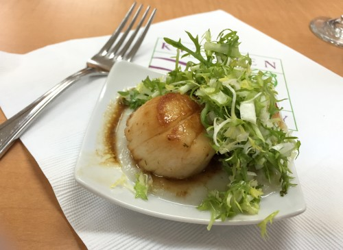 seafood cooking class scallops