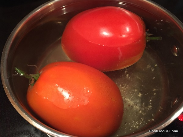 tomatoes boiling water