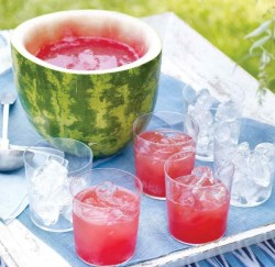 watermelon rind punch bowl