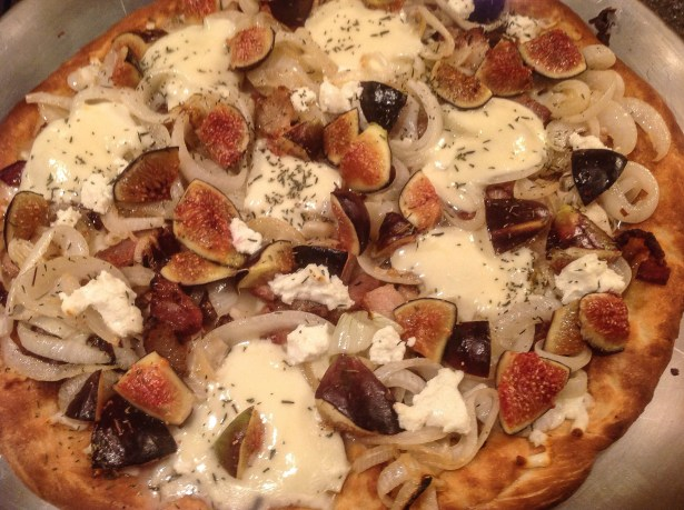 Sweet and savory pizza
