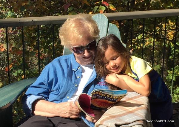 Reading at the farm