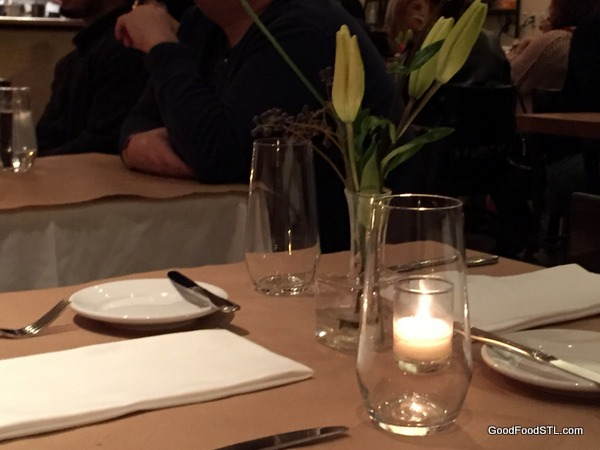 Table at Niche Restaurant