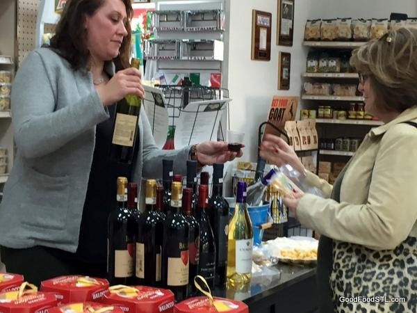 Wine tasting at Di Gregorio's Grocery