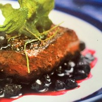 Pavé of Venison with Blueberry and Port Sauce