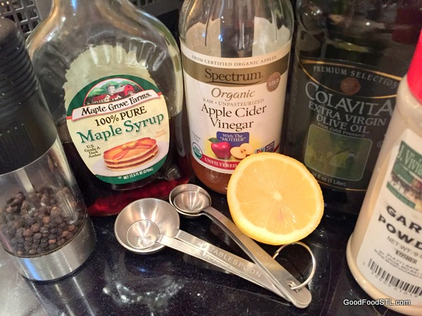 Healthy Salad Dressing ingredients