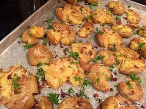 crispy lemony potatoes