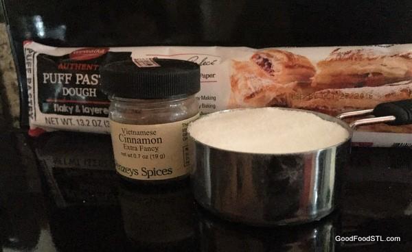 Palmier cookie ingredients